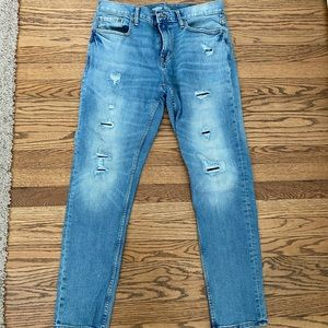 Old Navy Relaxed Slim Distressed Jeans